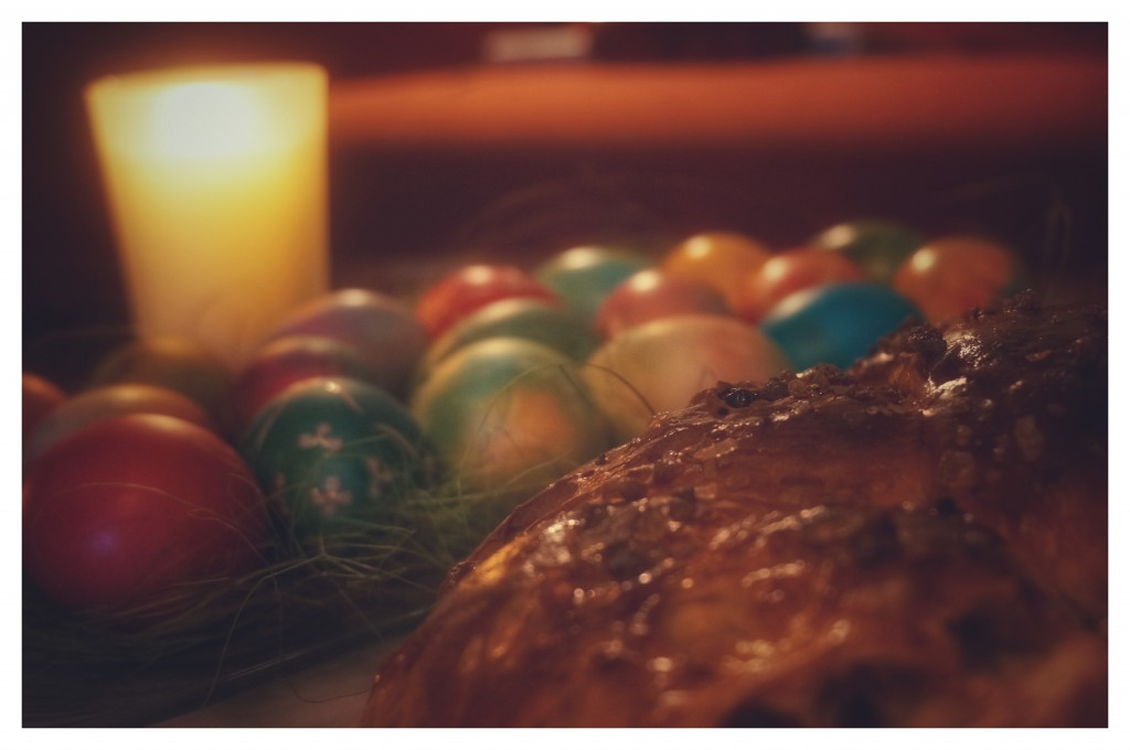 Easter, eggs, bread